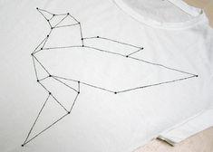 Shirt mit Origami | DIY LOVE