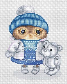 Buy+Owl+Dressed+for+Snow+Chart+Online+at+www.sewandso.co.uk