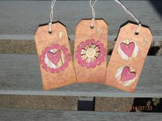 Shabby chic gift tags. Rustic Gift Tags by Pearlypantscrafts, £3.50
