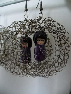 Japanese Kokeshi doll Necklace - Purple. $23.50, via Etsy.