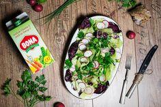 Salat Radieschendressing, Radieschen Salat, Dressing Rezept, Rezept bunter Salat, gesundes Salat Rezept, bunter Salat, low carl salad, dressing recipe