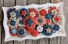 Patriotic Cookies by Sweetsugarbelle