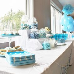 Hostess with the Mostess® - Blue Polka Dot Baby Shower