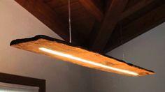 lampadario con vecchio legno