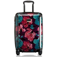 Tumi 'Tegra-Lite' International Carry-On featuring polyvore, fashion, bags, luggage and peony floral