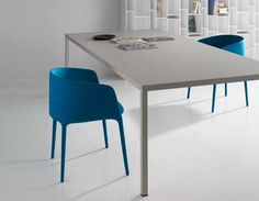 Steel dining table from MDF Italia