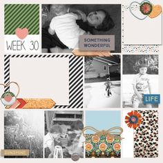 Back to Nature Project Life Layout