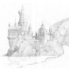 A sketch of Hogwarts castle