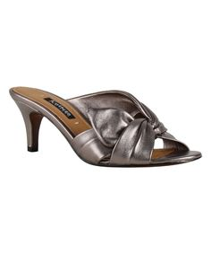 Look what I found on #zulily! Kay Unger Taupe Laminato Mattea Sandal by Kay Unger #zulilyfinds