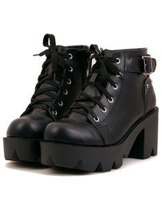 Shop Black Chunky Heel Lace Up Ankle Boots online. - Shop Black Chunky Heel Lace Up Ankle Boots online. SheIn offers Black Chunky Heel Lace Up Ankle Boots & more to fit your fashionable needs. Source by lenchenmann - Black Leather Shoes, Black Boots, Leather Boots, Lace Up Ankle Boots, Heeled Boots, Platform Ankle Boots, Ankle Booties, Sneakers Fashion, Fashion Shoes