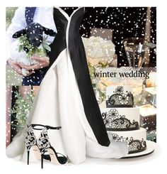 """Winter Wedding in Black and White"" by interesting-times ❤ liked on Polyvore featuring Donna Karan, Dolce&Gabbana and winterwedding"