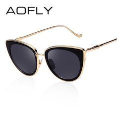 848c40265f Metal Frame Cat Eye Women Sunglasses Female Sunglasses Famous Brand Designer