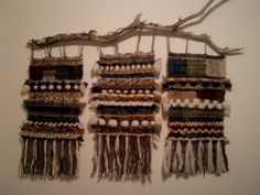 . Weaving Wall Hanging, Weaving Art, Tapestry Weaving, Loom Weaving, Hand Weaving, Weaving Projects, Crochet Projects, Fall Crafts, Arts And Crafts