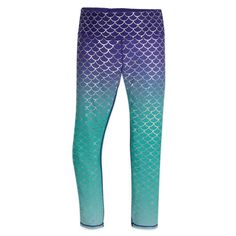 Follow in the fashion footsteps of Ariel with these leggings featuring a gorgeous ombre design, reminiscent of her fins.