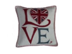 The Bee's Knees British Imports - Fab Love Cushion, $130.00 (http://www.thebeeskneesbritishimports.com/products/Fab-Love-Cushion.html)