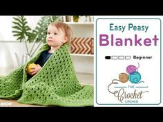 How to Crochet A Baby Blanket: For Beginners - YouTube