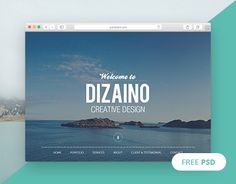 "Check out new work on my @Behance portfolio: ""DIZAINO - One Page Free PSD…"