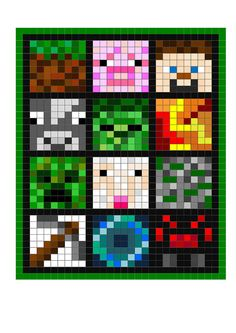 Pixel Gaming Quilt PDF Twin size 56x76 by BagsyThat on Etsy