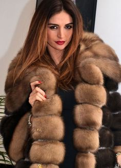 Sable and mink fur