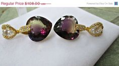 ON SALE Sale  Ametrine Earrings Statement Earrings от sharrona