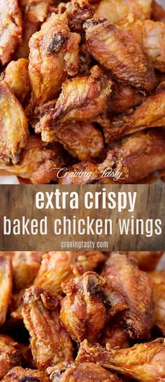 These Are The Crispiest Baked Chicken Wings You Can Make. These Oven-Baked Wings Make The Best Buffalo Wings. It Only Takes About 30 Minutes To Bake Them. Extraordinary For Parties, Game Days And Just To Satisfy Cravings For Chicken Wings. Crispy Baked Chicken Wings, Baked Chicken Recipes, Crispy Hot Wings Recipe Baked, Crispy Turkey Wings Recipe, Crispy Oven Chicken Wings, Lemon Pepper Chicken Wings Recipe Oven, Bbq Chicken Tenders Baked, Deep Fry Chicken Wings, Recipes For Chicken Wings