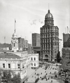 The New York World building, 1905 [2200x2624] now the site of the on ramp of the Brooklyn Bridge - Imgur