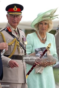Prince Charles, Prince of Wales and Camilla, Duchess of Cornwall attends the Drumhead Service during the 70th Anniversary commemorations of VJ Day on Horse Guards Parade August 15, 2015 in London,...