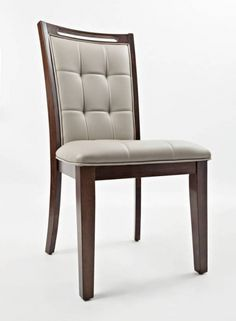 2 Manchester Wood Upholstered Dining Chairs