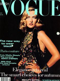 Tatjana Patitz by Max Vadukul Vogue UK October 1992                                                                                                                                                                                 More
