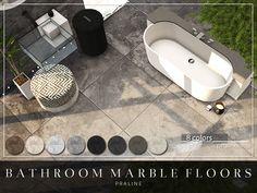 By Pralinesims Found in TSR Category 'Sims 4 Walls & Floors Sets' Sims Baby, Sims 4 Teen, My Sims, Sims Cc, Sims 4 Mods Clothes, Sims Mods, Bathroom Marble, Bathroom Flooring, Jack Daniels Decor