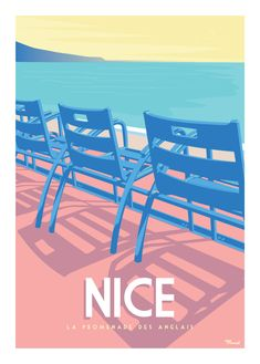 © Marcel NICE Promenade des Anglais  www.marcel-travelposters.com