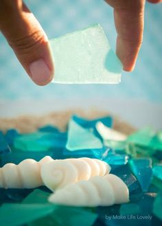 What the what? Great idea! Edible Sea Glass Recipe - Make Life Lovely