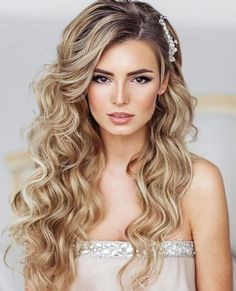 Soft wedding curls