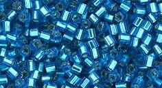 TH-11-23BD TOHO - Hexagon 11/0 : Silver-Lined Aqua