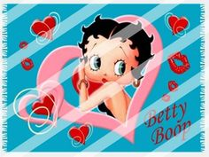 Betty Boop Edible Cake Topper Frosting 1/4 Sheet Image #82
