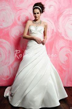 A-ligne bretelles robe de mariée en satin plissé [RDM1301160248] - €160.54 : Robe de Soirée Pas Cher,Robe de Cocktail Pas Cher,Robe de Mariage,Robe de Soirée Cocktail.