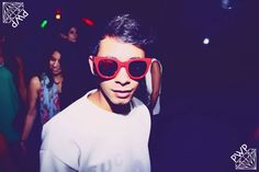 """cool kid wearing """"Punks Wear Prada"""" x Spektre at the PWP launch party of its capsule collection!"""