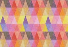 Visual Mantras (Geometric) - Ana Montiel Love the simplicity and the colors.