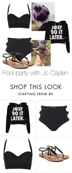 """Pool party with Jc Caylen"" by style-angel123 ❤ liked on Polyvore featuring beauty, MINKPINK and Sam Edelman"
