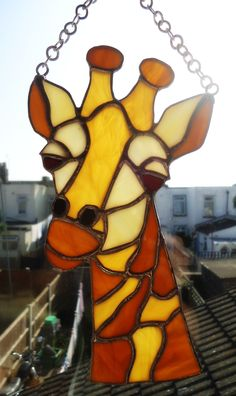 stained Glass giraffe https://www.facebook.com/FaithsBizzarArt