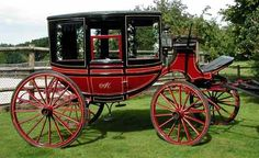 Victorian Horse Drawn Glass Coach Carriages