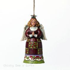 BRAND: Enesco LINE: Jim Shore Heartwood Creek ITEM: Christmas Angel Mini Ornament MPN: 4047814 ARTIST: Jim Shore CONDITION: New In Original Box DATE INTRODUCED: 1/1/2015 SIZE: 3.875 in H x 1.75 in W x