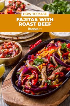 20 mins. · Serves 4 · Got leftover roast beef? This easy Fajitas with Roast Beef recipe turns juicy and spiced beef into a quick Mexican dish with tortillas and gravy. Try it for a healthy summer dinner meal! #Recipes #Food #Crave #Tasty #Yummy #Delicious #FoodTrip #FoodLover #Recipes.net #foodporn #Cook #Cooking #Foodie #foodblog #homemade #summerdinnerideas #Healthydinnerideas How To Make Fajitas, Wrap Recipes, Dinner Recipes, Leftover Roast Beef, Spiced Beef, Roast Beef Recipes, Fajita Recipe, Tasty Dishes, Dinner Meal