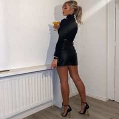 Red Stiletto Heels, Red Stilettos, Thigh High Boots, Leather Skirt, Twitter, Skirts, Clothes, Beautiful, Tops