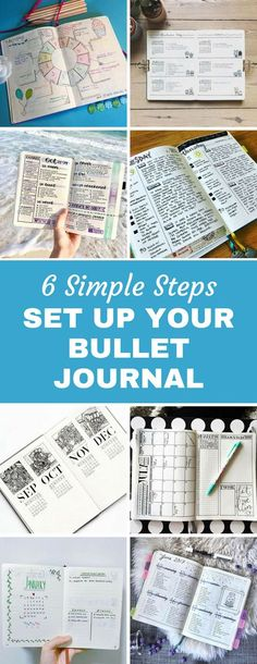 How to Set Up Your Bullet Journal - Who knew it was so easy to get started with a BuJo! Just 6 simple steps and you're on your way. So grab a notebook and pen and get started today! #BuJo #BulletJournal #Planner