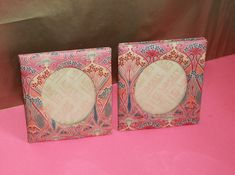 Liberty of London Pair of Photo Frames 'Pink Ianthe' Design. English Home. Art And Craft Design, Design Crafts, Sand Crafts, English House, Liberty Print, Liberty Of London, Arts And Crafts Movement, Pen Sets, French Art