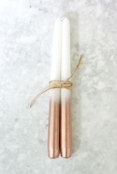 Oleander and Palm: DIY Metallic Dipped Taper Candles