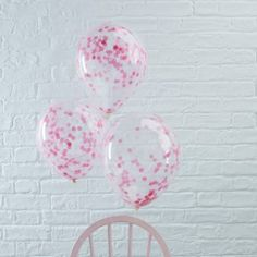 Pick and Mix Pink Confetti Party Balloons - Confetti Balloons - Balloons - Party Supplies