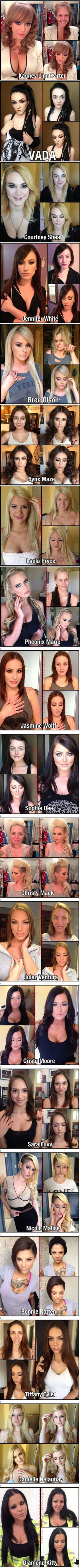 View P0rnst@rs Without Makeup, What a difference make up makes - Link Up Videos - Videos from all over the web On Link Up Videos