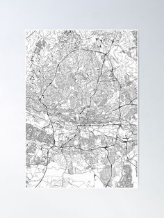 Johannesburg White Map by Multiplicity Maps Wall Art Prints, Poster Prints, Canvas Prints, Posters, Nursery Modern, Map Art, Sell Your Art, Vintage World Maps, Canvas Art